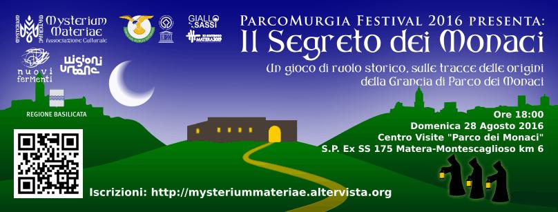 Cover Gioco di Ruolo 'Il Segreto dei Monaci' - 28 Agosto 2016
